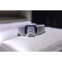 SI F-G Elmas 18K beyaz altın toptan R346 0.25ct Man Fabrikası yönetmenlik elmas yüzüğü Som altın sertifikalı elmas nişan yüzük