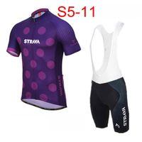 Erkek Strava Takım Bisiklet Giyim Seti Bisiklet Jersey Önlükler Şort Kitleri Yaz Hızlı Kuru Bisiklet Kısa Kollu Giyim 31890