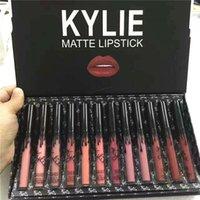 12pcs in 1 KY Matte Liquid Lipstick Kit Long Lasting Lip Color Gloss Foundation Makeup Lipgloss Set Non-Stick Cup