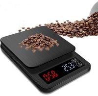 أحدث USB المسؤول مقياس المطبخ 0.1G-5KG LCD الرقمية بالتنقيط الالكترونية القهوة مقياس مع الموقت الوزن المنزلية بالتنقيط مقياس