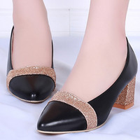 Square heel office shoes women big size 4- 9 mixed colors foo...