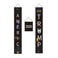 할로윈 트럼프 2020 플래그 아메리카 도널드 트럼프 2020 배너 할로윈 장식 홈 가든 문 9 스타일 HHA749