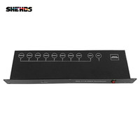 SHEHDS Stage Lighting Controller DMX512 Signal Amplifier Splitter 8 Way DMX Distributor For Professional DJ Equipment Fast delivery