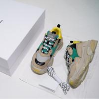 Diseñador de lujo Triple S bajo Old Dad la zapatilla de deporte de combinación múltiple de los zapatos para mujer para hombre de moda los zapatos ocasionales del tamaño de alta calidad superior 36-45