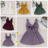 Kids Clothes neonate Pudcoco principessa abito estivo Solid bambino Abiti da prendisole abiti casual Abbigliamento Sundress TLZYQ1158
