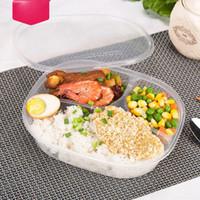 1000ml Einweg-Lunchbox-Takeaway Fast-Food-Pack-Boxen 3 Fach-Mahlzeit-Prep-Publikum-Kunststoff-Lebensmittelbehälter