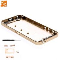 Pour iPhone 5 5G 5S Housse de rechange Boîtier Porte de la batterie avec plateau de carte SIM + Bouton de volume + Pièces de rechange de bouton latéral de l'alimentation 30pcs lot