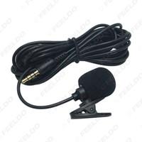 자동차 GPS 마이크 키트 클립 마운트 자동차 인테리어 핸즈프리 3.5mm 잭 및 3M 케이블 # 2275