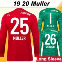 19 20 LEWANDOWSKI Long Sleeve Mens Soccer Jerseys New MULLER...