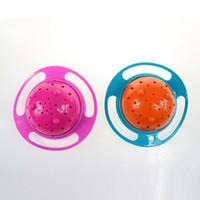 Kid Gyro Bowl Art de la table design pratique Enfants Rotary Équilibre Nouveauté Gyro Umbrella 360 Rotation Spill-Proof alimentation solide plat VT0407