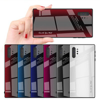 Hot SaleGradient verre cas pour Samsung S20 S20Ultra S20Plus 9 note10 S10 S9 A80 A70 A50 A20 TPU + verre Couverture rigide