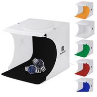 Mini Photo Studio Photography Box Sfondo incorporato Photo Light Box piccoli oggetti Stand Fotografia Box della luce dello studio Bracci trasporto libero