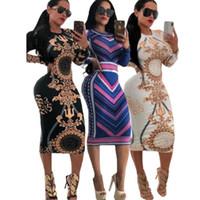 Женское платье Party Night Club Винтажное платье с длинным рукавом с принтом Горячая распродажа Wip Bodycon Коктейльное платье Бинты Сексуальные платья