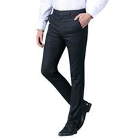 TFETTERS Kaliteli Erkekler Düz Takım Elbise Pantolon Resmi Giyim Rahat Pantolon Erkek Takım Elbise Pantolon Büyük Boy Erkek Takım Elbise Pantolon Boyutu 38
