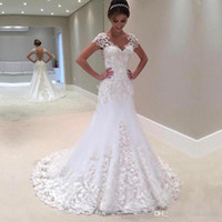 2019 Luxurious Mermaid Wedding Dresses With Hand Made Flower...