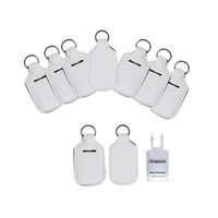 Neoprene portachiavi per per 30ml Hand Sanitizer mini bottiglia Color Cover Bianco Rettangolo Holder Chapstick