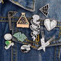 Dandelion Rose Dagger Jogo Esmalte taça broche emblema do vaqueiro Acessórios Collar