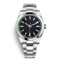 Мужские Черные Часы 40 мм Автоматическое движение Нержавеющая Сталь Часы Мужчины 2813 Механический дизайнер светло-голубые часы мода BusinessWrantWatch