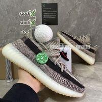2020 Kanye West estática de los zapatos corrientes de cola de Nueva Israfil Cinder Desert Sage Tierra de luz cebra para mujer para hombre zapatillas Entrenadores con la caja Tamaño US13