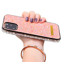 발광 블링 블링 빛나는 다이아몬드 전화 케이스 아이폰 (11) 프로 X XR XS MAX 8 7 6 반짝이 화려한 케이스 플러스 형광 표지를 모조 다이아몬드