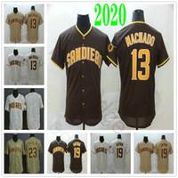 2020 새로운 남성 # 13 매니 마차도 뉴저지 19 토니 그윈 (23) 페르난도 타티스 주니어 스티치 홈 원정 셋째 야구 유니폼
