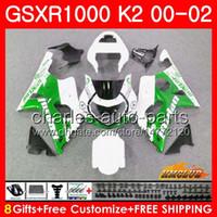 BODOS PARA SUZUKI GSXR 1000 GSX-R1000 GSXR1000 00 01 02 Frame 14hc.35 GSX R1000 K2 00 02 GSXR-1000 2000 2001 2002 Kit de carenado blanco Nuevo