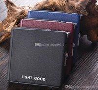Personalizado cigarro 3color de metal Armazenamento boxs Tobacco armazenamento caso presente New Fashion Square Cigar Cigarette Box Com isqueiro