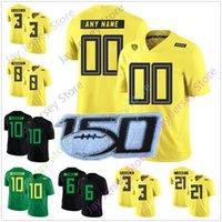 Personalizzato Oregon Ducks Football Jersey College di 3 Vernon Adam Jr. 6 De'Anthony Thomas 8 Marcus Mariota 24 Kenjon Barner