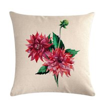 Spring Flower modello Cuscino decorativo di copertura del cuscino federa di lino 45 * 45cm cuscini Home Decor Pillowcover