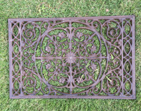 Cast Iron Decorative Door Mat Scroll Flower Outdoor Doormat ...
