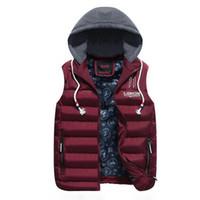 Yeni Erkek Kış Kolsuz Ceketler Moda Rahat Kalın Yelekler Erkekler Hoodie Mont Erkek Pamuk Yastıklı Sıcak Ince Yelek