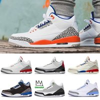Mens Jumpman 3 Knicks Rivals scarpe da basket III Tinker Hatfield Clorofilla nero cemento UNC PE International volo Sport Trainers