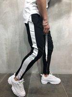 Erkek Günlük Pantolon Çizgili Baghee Sweatpants Pantolon 2020 Yeni Erkek Dantel-up Gevşek Kalça Pantolon Koşucular Parça Pantolon Pockets
