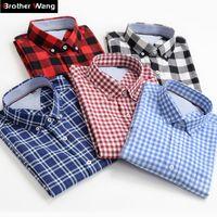 Más el tamaño de los hombres camisas 10XL 9XL 8XL 7XL 6XL 5XL Verano Estilo New Classic 100% algodón camisa a cuadros de manga corta masculino marca de ropa