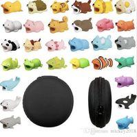 2019 Lindo Cable Bite animal Protector Accesorio juguetes mordeduras de cable perro cerdo elefante axolotl para iPhone Samsung teléfono inteligente Cable de cargador
