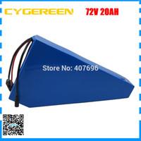 2500W 72V 20AH batería eléctrica de la bici de 72V 21AH uso de la batería de litio triángulo de Samsung 3500mah celular 40A BMS con bolsa gratis
