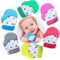 Baby Teether Luva Silicone Teether Chuque Chupeta Chupeta Mitenes de Enfermagem de Som para 6 mesesup Criança Infantil Hha1354