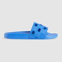 2019 damen luxe designer pool rutsche sandalen flache hausschuhe mit ausgeschnittenem logo geprägt größe euro 35-41