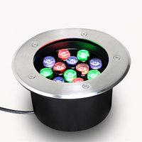 Luz de metro RGB LED redonda al aire libre 36W 24W 15W AC85-265V PF0.7 Impermeable Alta iluminación luminosa del paisaje de la lámpara del césped directa de China