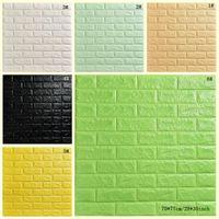 Papel de parede Stereo Waterproof fundo criativo 3D Wallpaper Stone Brick Wall Stickers Sala Hotel Estudo Wallcovering DBC DH1157-1