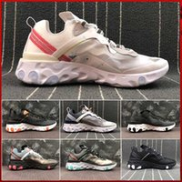 React Element 87 x Undercover Men Running Shoes For Women Diseñador Sneakers Mens Trainer Calzado deportivo Sail Light Bone zapatos al aire libre