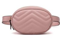 Fashion Famous TOP Brand new Donna Luxury PU fibbia in metallo borsa a vita con cinturino # G7646