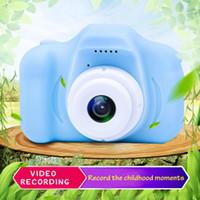 Camera 2020 Hot Natale per i bambini Camera bambini Mini Digital svegli del fumetto Cam 13mp 8MP fotocamera reflex Giocattoli per regalo di compleanno 2 pollici schermo