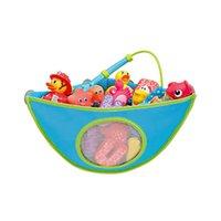 Cuarto de baño del juguete del lechón bolsa de almacenamiento de montaje en pared baño colgantes bolsas de almacenamiento de juguete del cabrito impermeable de tela Oxford Triángulo del organizador del DBC DH0956