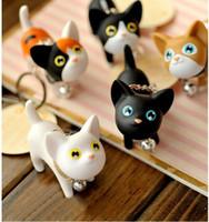 Nuovo 10pcs Catena sveglio di modo nuovo gattino di Kawaii metallo Cat Portachiavi Anime portachiavi della novità creativa Trinket fascino delle donne della ragazza Bambini