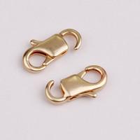 Vekeklee Hot New Oro opaco in ottone oro materiale 11.5mm gioielli gancio metallo aragosta stringa per bracciale Collana 100pcs / lot YSH5152 Drop Shipping