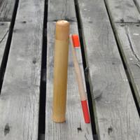 DHL bambú cepillo de dientes cepillo de dientes del arco iris Conjunto de bambú del tubo 1pc Cepillo de dientes Eco friendly caso del recorrido de bambú natural de los dientes Cepillo de embalaje