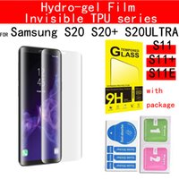 Invisible écran TPU Anti Shock Edge Cover Protector Hydro-gel Film pour Samsung Galaxy S20 S20 PLUS S20 Ultra S11 + S11 S11E iPhone11