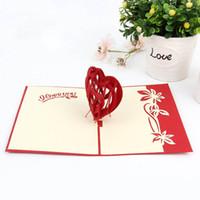 Art und Weise 3D Pop Up Faltbare Karten Kreative Handmade Herzform Paper Cuts Valentines Lehrer Sie Muttertag XD23105 danken