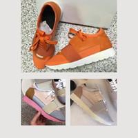2019 yeni Moda lüks Tasarımcı Sneaker Koşucu Ayakkabı Açık Havada Eğitmenler Adam Kadın Rahat Ayakkabılar Hakiki Deri Örgü sivri burun yarışı